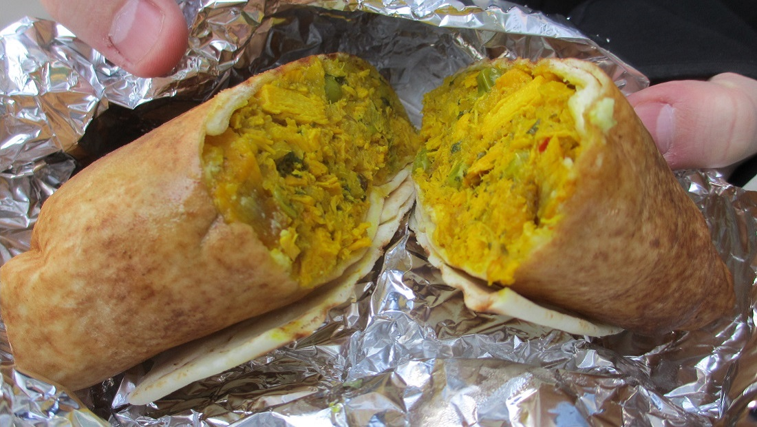 IMAGE: https://upload.wikimedia.org/wikipedia/commons/6/68/Butter_Chicken_Wrap_from_Remedy.jpg