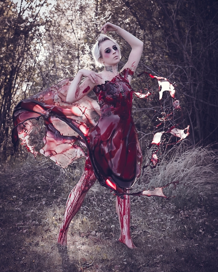 blood dress full