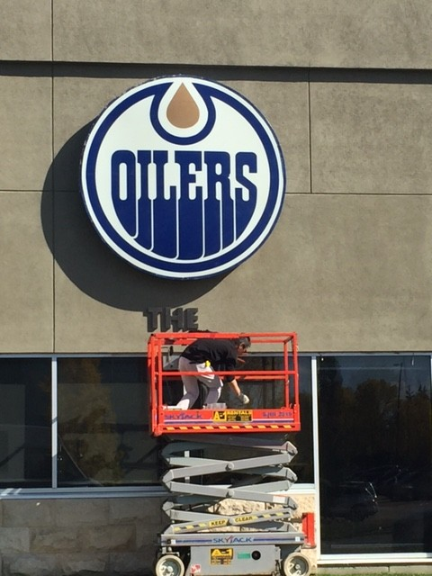oiler sign going up