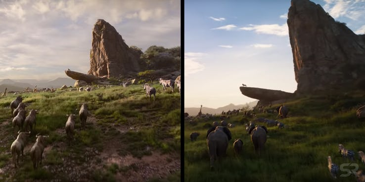 The Lion King Trailer Differences Pride Rock Sonic 1029